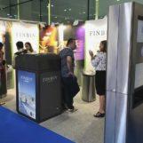 Умная мусорная урна FINBIN Media с прессом на солнечных батареях