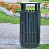 Урна мусорная для парков и скверов FINBIN PLAZA черная