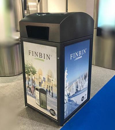 новинка урн ФИНБИН 2017 FINBIN на солнечных батарейках