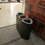Черная металлическая урна FINBIN бермуда 3 для раздельного сбора мусора в магазине