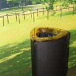 Урна мусорная черный металлик BERMUDA 80 особая серия