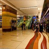 урна в метро Дубай из нержавеющей стали FINBIN ELLIPSE 100