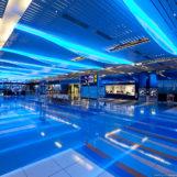 Мусорные урны из нержавеющей стали FINBIN ELLIPSE 100 в метро Дубай ОАЭ