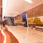 Красивая урна из нержавеющей стали в метро ОАЭ Дубай FINBIN ELLIPSE 100