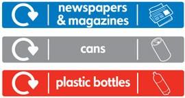 наклейка Glasdon на урну Jubilee бумага банки пластик