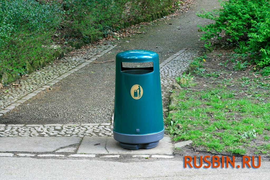 Мусорные урны Glasdon topsy 2000 парковая зона, цвет темно-зеленый