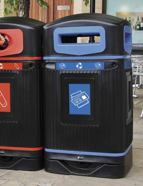 урна уличная для сортировки мусора Glasdon Jubilee бумага