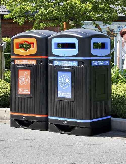 уличная мусорная урна для раздельного сбора Glasdon Jubilee