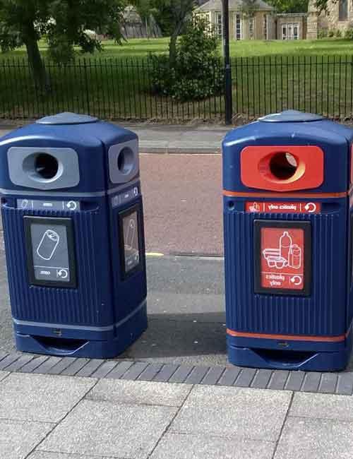 Урна для сбора пластиковых бутылок в раздельном сборе мусора Glasdon Jubilee
