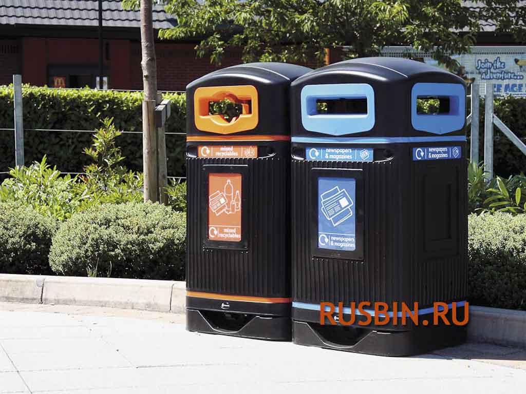 уличные мусорные урны для раздельного сбора Glasdon Jubilee