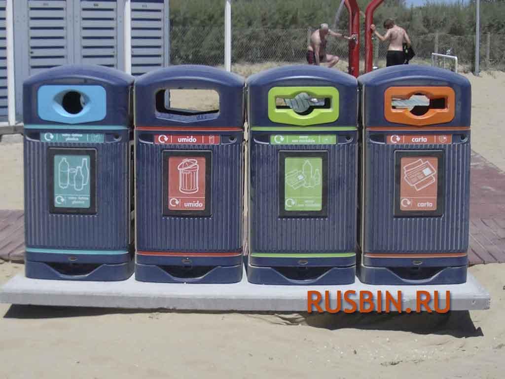 уличные урны для сортировки мусора бутылки пластик стекло Glasdon Jubilee