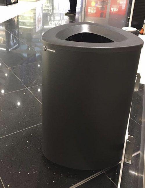 Мусорные урны FINBIN BERMUDA Jumbo Черный металлик