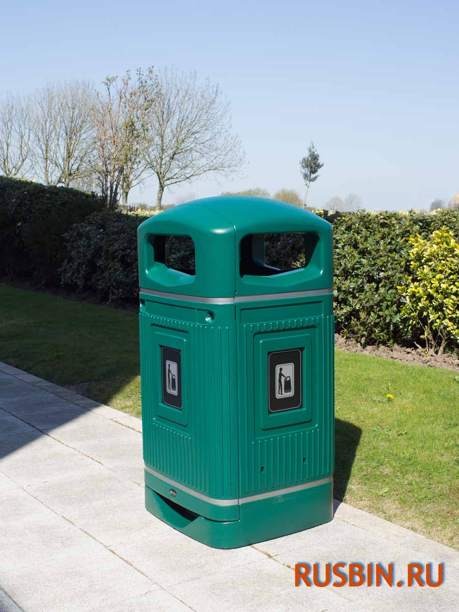 Glasdon Jubille - урна антивандальная мусорная 110 литров зеленого цвета