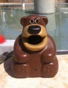 Урна для мусора Медведь красивая для устновки на детских площадках Glasdon Tidy Bear