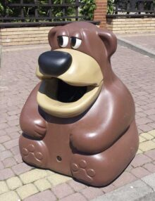Урна мусорная красивая Медведь Glasdon Tidy Bear