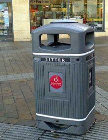 Урна для сбора мусора на улице антивандальная GLASDON Jubille цвет серый