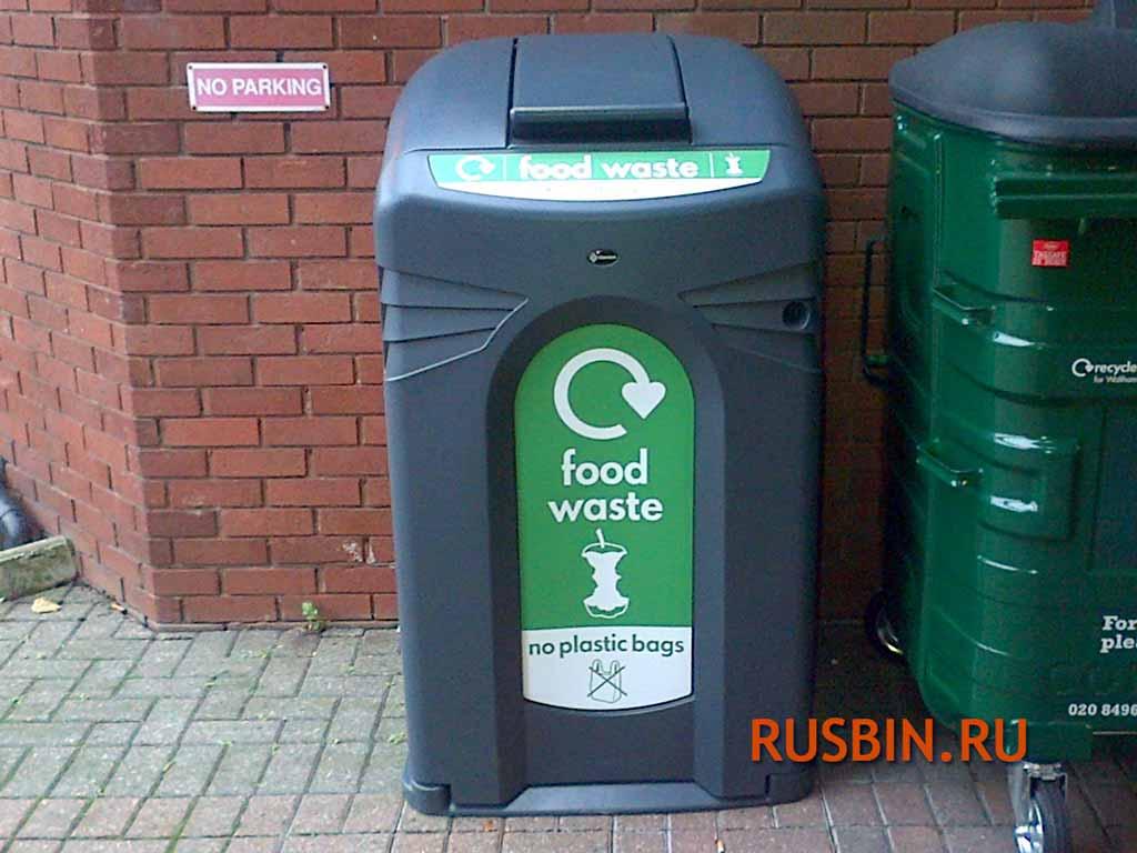 Уличный закрытый мусорный бак Glasdon Nexus City 140 240