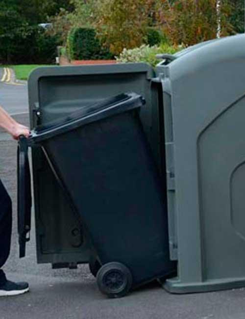 Вид изнутри мусорного контейнера Glasdon Nexus City 140 240 литров