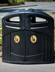 Большая мусорная уличная урна Glasdon Nexus 200