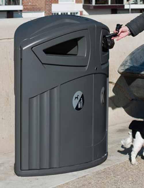 Урна для сбора мусора в 2 отсека Glasdon Nexus 200 цвет антрацит