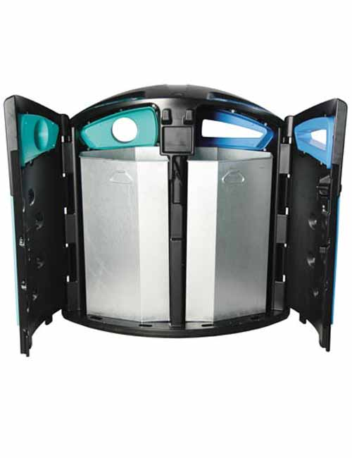 NEXUS 200 урна вид изнутри на мусорные баки