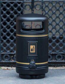 Английский мусорные урны glasdon topsy royal с пепельницей