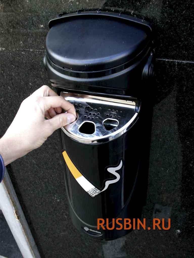 Нержавеющая стальная пластина уличной пепельницы Glasdon Ashmount