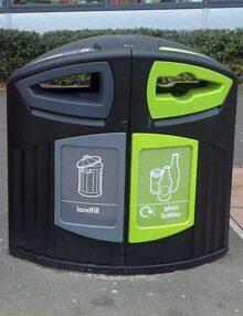 Красивая мусорная урна для раздельного сбора мусора Glasdon Nexus 200