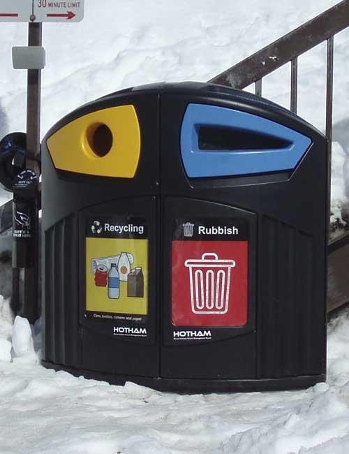 Красивые мусорки Glasdon NEXUS 200 для раздельного сбора