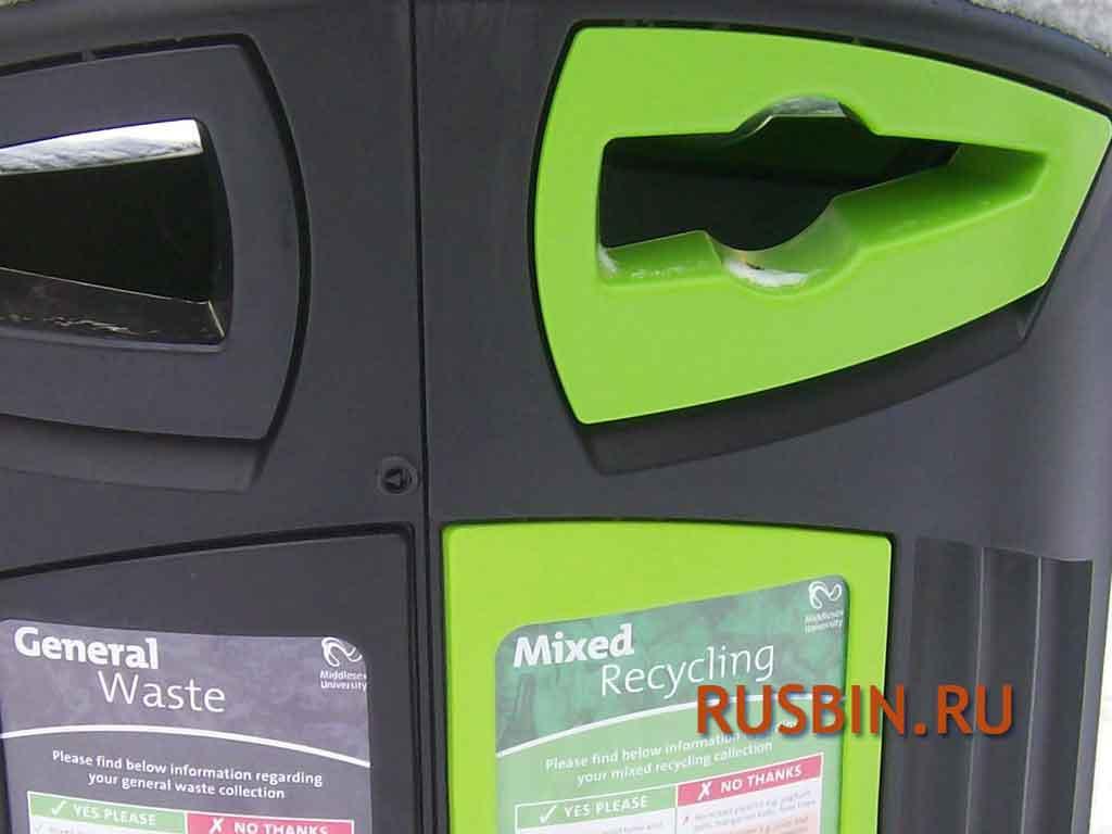 Приемные мусорные отверстия для урны для сортированного мусора Glasdon Nexus 200