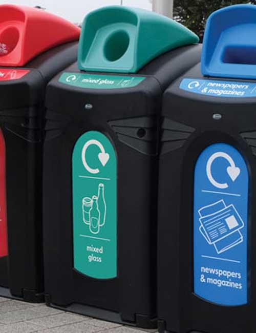 уличные контейнеры для сортировки мусора GLASDON NEXUS CITY 140