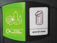 вкладки для сбора сбора бутылок и общего мусора Glasdon Nexus 200