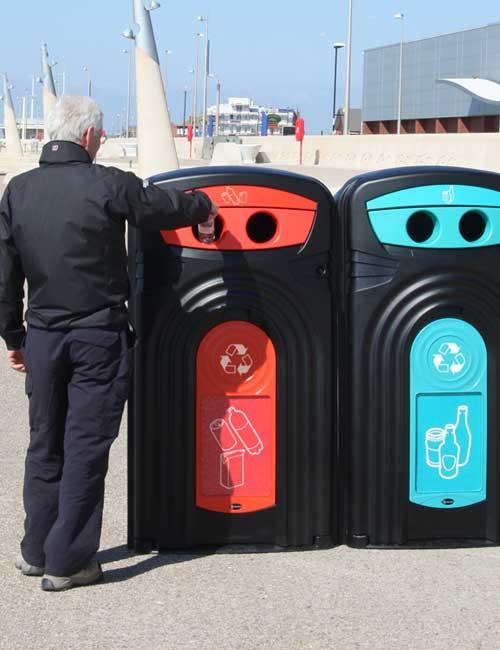 Уличный контейнер для мусора NEXUS 360 литров