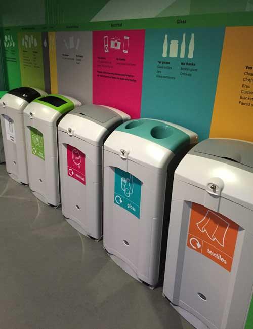 Контейнер для раздельного сбора мусора в помещении NEXUS 100 Glasdon