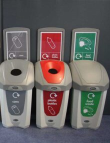 пластиковая урна для сбора мусора в небольших офисах NEXUS 30 GLASDON