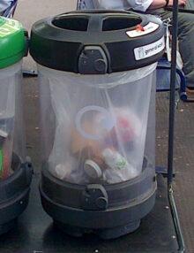 прозрачная урна для раздельного сбора мусора GLASDON C-Thru Trio