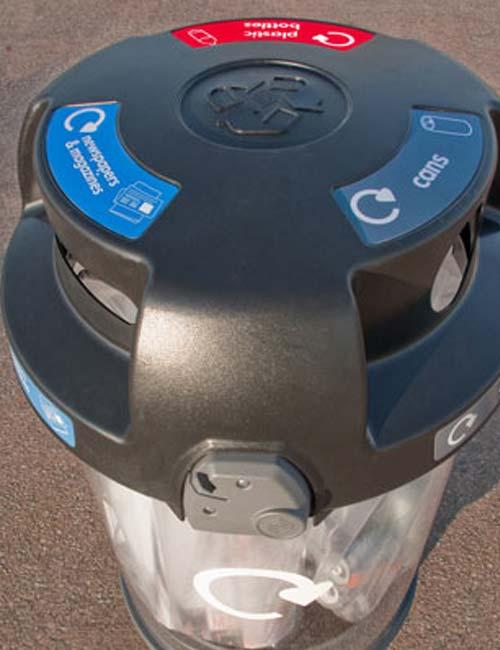 прозрачная урна для мусора C-THRU Англия, Glasdon