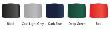 Варианты цвета верхней крышки мусорной урны GLASDON COMBO