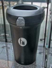 Черная внутренняя урна для мусора GLASDON Pacific