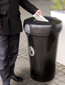Овальное отверстие мусорной урны GLASDON PACIFIC
