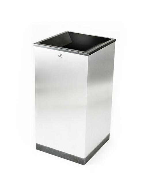 Нержавеющая модульная урна сбора не сортируемого мусора