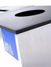 качество певерхности урны FINBIN EDGE (структурнакя окраска черный металлик)