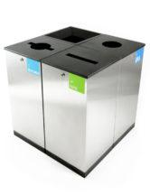 урны для бумаги, пластика, перерабатываемого мусора и прочих отходов FINBIN EDGE