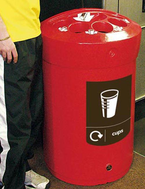 мусорная урна для ПЭТ стаканчиков и жидкостей