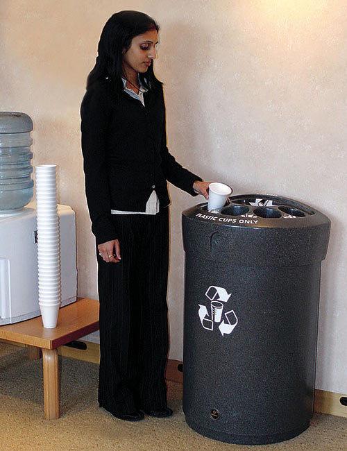 мусорная урна для сбора одноразовых стаканчиков и жидкости Glasdon Envoy (Англия)