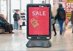 Рекламный уличный штендер Glasdon
