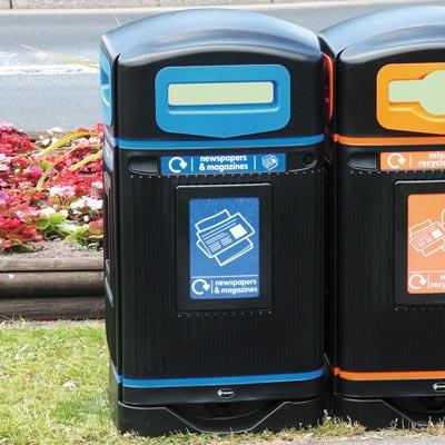 Уличная мусорная урна для бумаги, газет и картона GLASDON JUBILEE