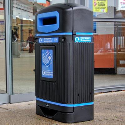 Уличный мусорный контейнер для бумаг Jubilee streamline
