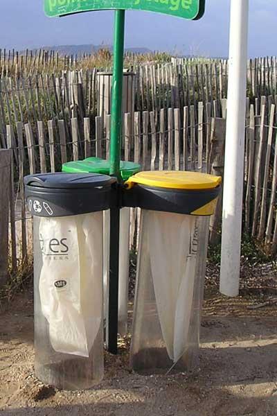 Прозрачные урны для раздельного сбора мусора ORBIS