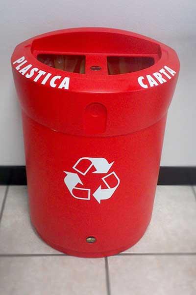 Урна для раздельного сбора 2 типа мусора